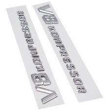 Set of Chrome Side Fender Sticker Emblem Badge V8Kompressor All Mercedes-Benz