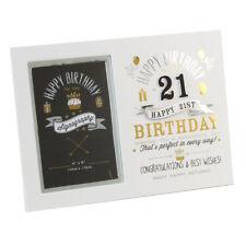 Brand New 21st  Birthday Signography Photo Frame 4 x 6