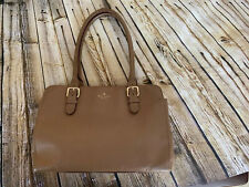 Kate Spade Beige Leather Tote Purse Large Zip Center