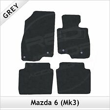 Mazda 6 Mk3 2013 onwards Fully Tailored Fitted Carpet Car Floor Mats GREY