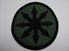 CHAOS    BLACK   EMBROIDERED PATCH
