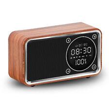 Bluetooth Multi-Function Digital Alarm Clock Radio Led Display Wood Table Clock