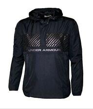 Under Armour Men's Windbreaker Shell Pullover Hooded Jacket Hoodie Black XXL/2XL
