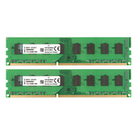 For Kingston 8GB 2X 4GB DDR3 1333MHz PC3-10600U 2RX8 Desktop Memory DIMM RAM @ST