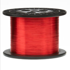 """30 AWG Gauge Enameled Copper Magnet Wire 5.0 lbs 16060' Length 0.0108"""" 155C Red"""