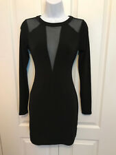 NWT - EXPRESS BLACK SEXY MESH DRESS - SIZE XS