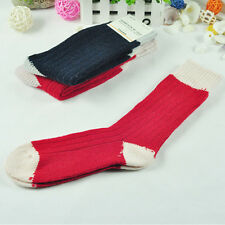 2 Pairs Men's Soft Comfortable Woolen Warm Socks Navy Red  Ankle Sock HOT Sale