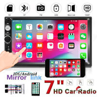 2 DIN Car Stereo Bluetooth Touch Screen MP5 Player USB Mirror Link For GPS AUX