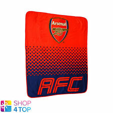 ARSENAL FC FADE RED FLEECE BLANKET COVER QUILT FOOTBALL SOCCER CLUB TEAM NEW