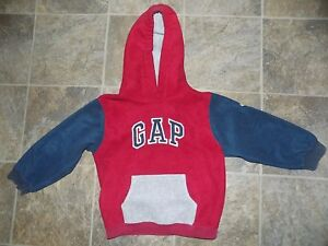 Boys/Girls Red & Blue Gap Fleece Hoodie Size 4xl/4tg 4yrs. Nice!