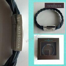 "TATEOSSIAN Braided Leather Bracelet RRP£120 (L) 19.5cm Blue ""XMAS GIFT"""