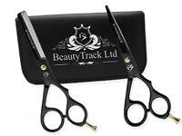 Black Hair Cutting Thinning Scissors Set Hairdressing Salon Professional Barber