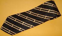 STEFANO RICCI BLACK/YELLOW STRIPED TIE - TIES - NECK TIES - DESIGNER TIES.