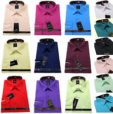 Men's Plain Cotton Everyday Value Shirt Classic Collar Formal Casual Long Sleeve