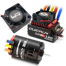 Hobbywing QuicRun Brushless Sensored 120A ESC 8.5T Motor YR Fan Combo #CB1179
