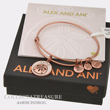 Authentic Alex and Ani Color Infusion,Sand Dollar (iv) Rose Gold Charm Bangle