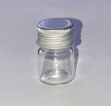 Mini Clear Glass Bottles Empty Transparent Jars Containers 10pcs 6 ml