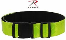 Reflective Neon Yellow Physical Training PT Belt - Rothco Safety Army Run Belts