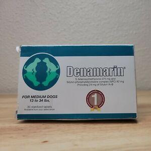 Nutramax Denamarin Liver Health Supplement Medium Dogs 30 Tablets Exp. 04/2024