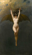WOMAN WITH BAT WINGS Le Femme Chauve-Souris Albert Joseph Penot art canvas print