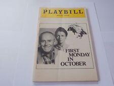 Playbill Program First Monday in October Majestic Theatre 1978 Henry Fonda