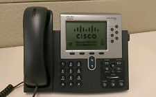 Cisco CP-7962G VOIP IP Phone 7962 LCD Telephone Handset Stand Cord