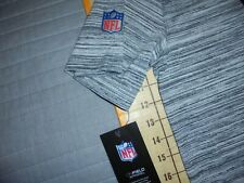 MENS LARGE GRAY/BLUE NIKE/NFL DENVER BRONCOS ATHLETIC DRI-FIT SHIRT - NWT