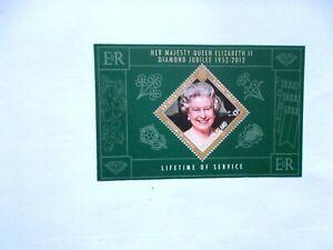 ASCENSION ISLAND: 2012 Royal Diamond Jubilee £2 Sheet U/M  MS1127