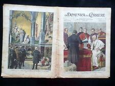Papa Leone XIII Benedizione Fonografo La Domenica del Corriere Num. 13 29/3/1903