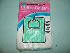 Vintage Magla All Purpose Utility Clothes Pin Bag Nip