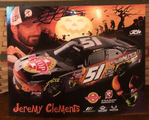 2020 JEREMY CLEMENTS ALLSOUTH ELECTRIC #51 ONE STOP   POSTCARD AUTOGRAPHED