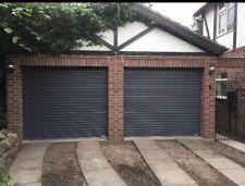 Anthracite grey Gliderol single skin manual roller shutter garage door plastisol