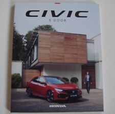 New Shape V Latest Honda Civic 5 dr S, SE, Sport, EX & SR Brochure February 2017