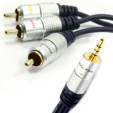 Pure 3.5mm Jack to 3 Phonos 4 pole AV out/TV Cable/Lead