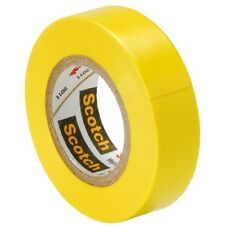 3M 10257 Scotch Yellow Color Coding Electrical Tape 35 1/2 Inch, 0-105 Degree C