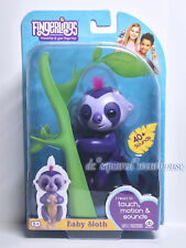 WowWee Fingerlings Interactive Baby Sloth Marge Purple Guaranteed Authentic New