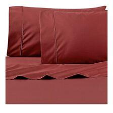 Wamsutta 625 Thread Count Pima Cotton Twin Sheet Set | Solid Rust