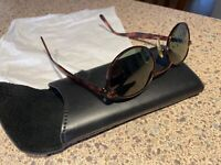 Vintage Sungear 690199 Sherpa Tortoise Bronze Metal Oval Sunglasses Japan