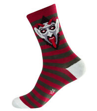 Gumball Poodle Devil Crew Socks Black Red FREE POSTAGE Fun Funky Scary Derby