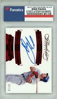Mike Piazza New York Mets Signed 2017 Panini Flawless #-MP #4/10 Card - Fanatics