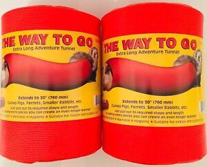 SNUGGLE SAFE WAY TO GO FUN TUNNEL FERRETS, GUINEA PIGS, SMALL ANIMALS X2 TWIN