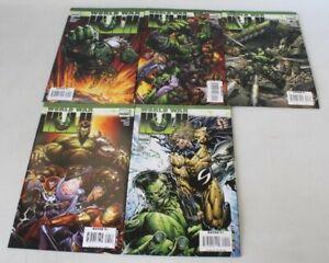 WORLD WAR HULK #1 - 5 Complete Comic Book Mini Series Marvel - I05