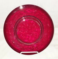 "McKee ROCK CRYSTAL *RED * 8"" PLATE* HARD TO FIND*"