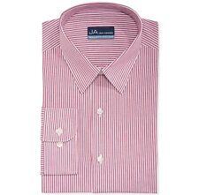 Nwt $95 John Ashford Men Regular-Fit White Red Button Dress Shirt 15-15.5 34/35