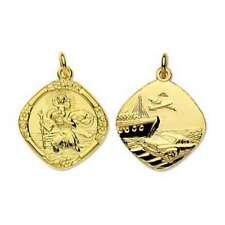 9ct Gold Medium Reversible Saint Christopher Pendant