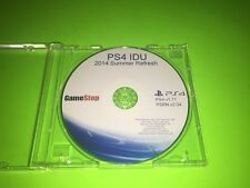 PlayStation 4 PS4 IDU 2014 Summer Refresh GameStop Kiosk Disc Demo ULTRA RARE