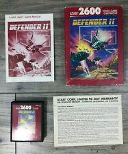 Defender II 2 Atari 2600 Complete In Box With Manual CIB