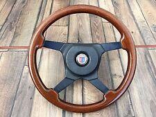BMW ALPINA MOMO Wood Steering Wheel Vintage 370MM E28 E30 E32 E34 OEM