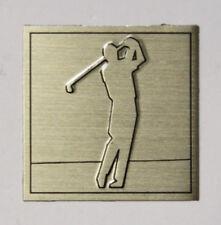 Vintage Aluminum Metal Sign Plaque Plate - Golfer Swinging - Tiger Woods?