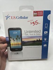 "NEW LG K3  4.5"" Prepay Smartphone 1GB 8GB Android 6.0.1 Marshmallow US Cellular"